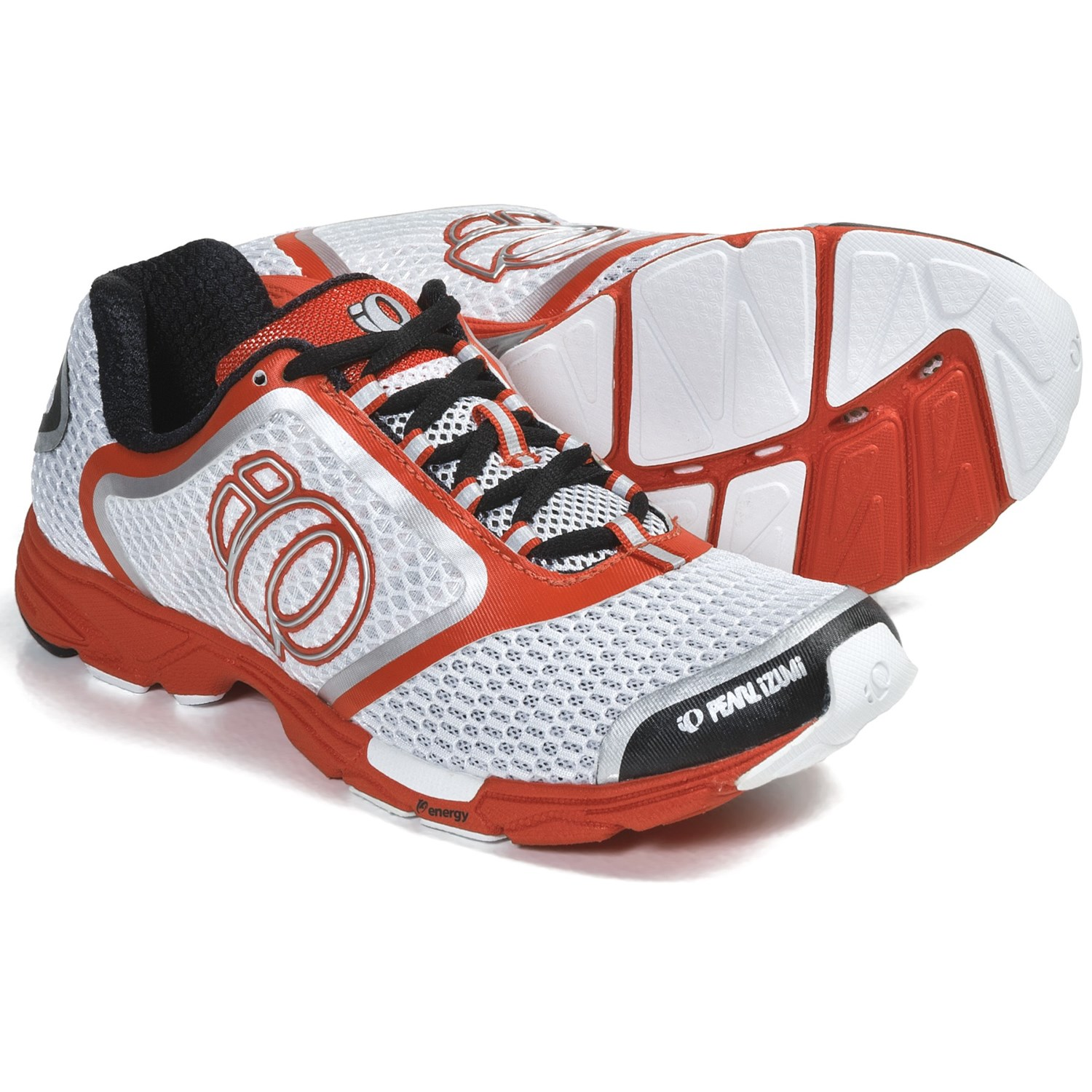 Pearl Izumi Streak II Running Shoes (For Women) in White/Cherry Tomato