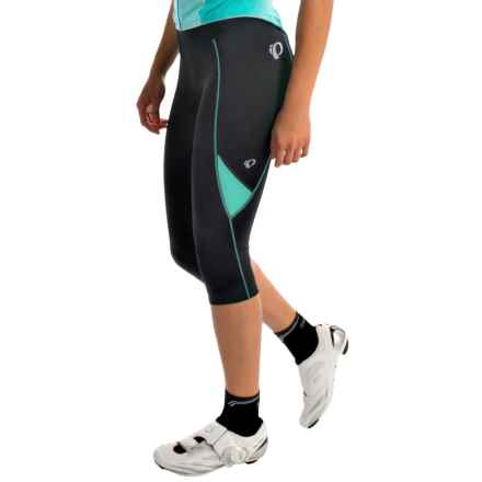 Pearl Izumi Sugar 3/4 Cycling Tights (For Women) in Black/Aqua Mint - Closeouts