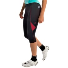Pearl Izumi Sugar 3/4 Cycling Tights (For Women) in Black/Crimson - Closeouts