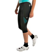 Pearl Izumi Sugar 3/4 Cycling Tights (For Women) in Black/Deep Lake - Closeouts