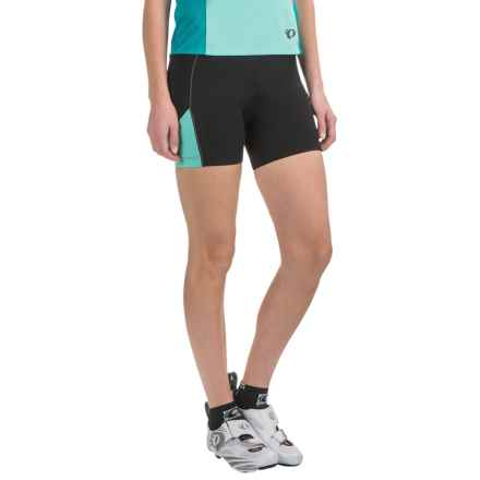 Pearl Izumi Sugar Bike Shorts - UPF 50+ (For Women) in Black/Aqua Mint - Closeouts