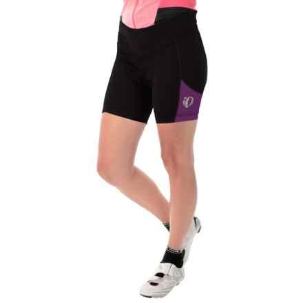 Pearl Izumi Sugar Bike Shorts - UPF 50+ (For Women) in Black/Dark Purple - Closeouts