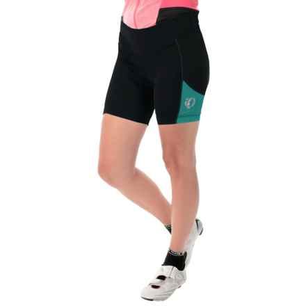 Pearl Izumi Sugar Bike Shorts - UPF 50+ (For Women) in Black/Deep Lake - Closeouts