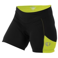 Pearl Izumi Sugar Bike Shorts - UPF 50+ (For Women) in Black/Lime - Closeouts