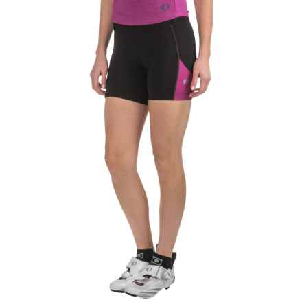 Pearl Izumi Sugar Bike Shorts - UPF 50+ (For Women) in Black/Purple Wine - Closeouts