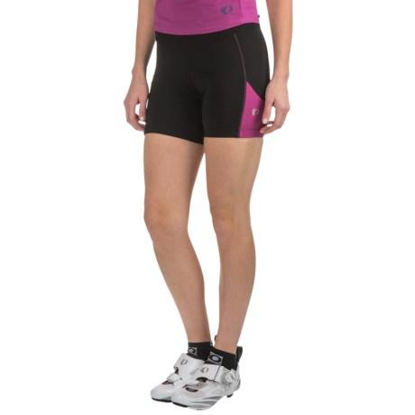Pearl Izumi Sugar Bike Shorts - UPF 50+ (For Women) in Black/Purple Wine