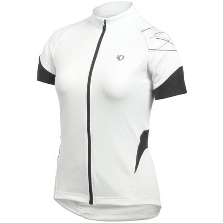 Pearl Izumi Sugar Cycling Jersey - UPF 50+, Full Zip, Short Sleeve (For Women) in White/Black