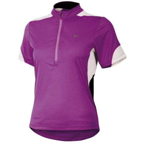 Pearl Izumi Sugar Jersey - UPF 50+, Zip Neck, Short Sleeve (For Women) in Orchid