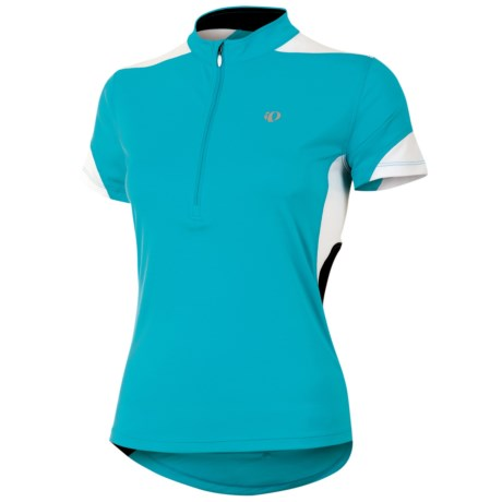 Pearl Izumi Sugar Jersey - UPF 50+, Zip Neck, Short Sleeve (For Women) in True Red