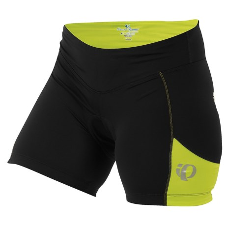 Pearl Izumi Sugar Shorts - UPF 50+ (For Women) in Black/Lime