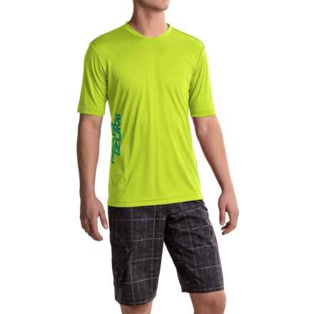 Pearl Izumi Summit Mountain Bike Jersey - Short Sleeve (For Men) in Lime Punch - Closeouts