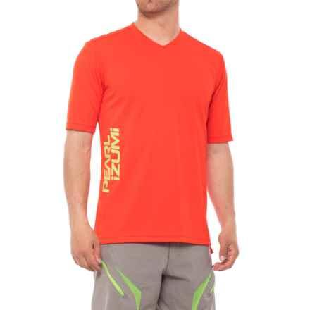 Pearl Izumi Summit Mountain Bike Jersey - Short Sleeve (For Men) in Orange.Com - Closeouts