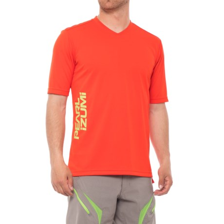 Pearl Izumi Summit Mountain Bike Jersey - Short Sleeve (For Men) in Orange.Com