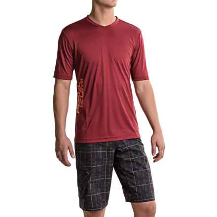 Pearl Izumi Summit Mountain Bike Jersey - Short Sleeve (For Men) in Tibetan Red - Closeouts