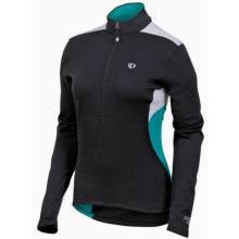 Pearl Izumi Superstar Thermal Fleece Jersey - Zip Neck, Long Sleeve (For Women) in Black/Peacock - Closeouts