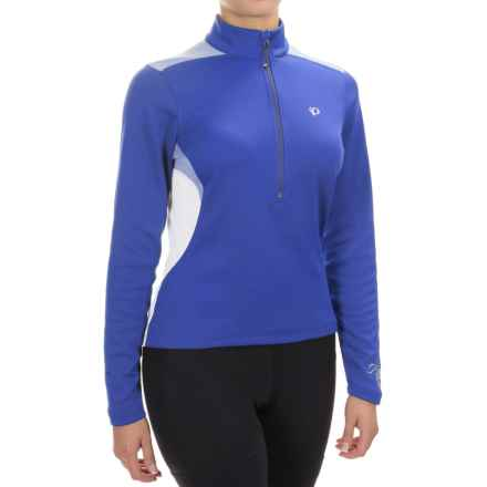 Pearl Izumi Superstar Thermal Fleece Jersey - Zip Neck, Long Sleeve (For Women) in Dazzling Blue - Closeouts