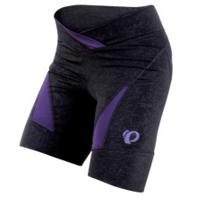 Pearl Izumi Symphony BIke Shorts (For Women) in Black/Blackberry - Closeouts