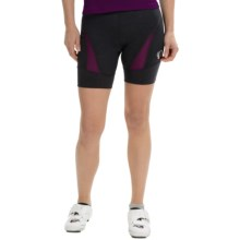 Pearl Izumi Symphony BIke Shorts (For Women) in Black/Dark Purple - Closeouts