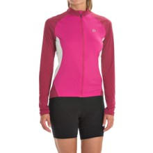 Pearl Izumi Symphony Cycling Jersey - UPF 50, Full Zip, Long Sleeve (For Women) in Berry - Closeouts