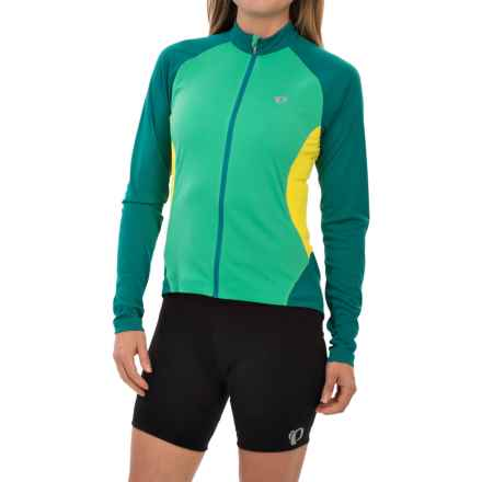 Pearl Izumi Symphony Cycling Jersey - UPF 50, Full Zip, Long Sleeve (For Women) in Gumdrop - Closeouts