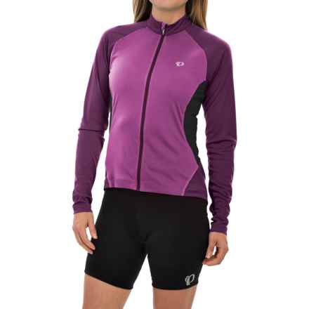 Pearl Izumi Symphony Cycling Jersey - UPF 50, Full Zip, Long Sleeve (For Women) in Meadow Mauve - Closeouts