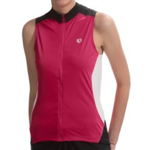 Pearl Izumi Symphony Cycling Jersey - UPF 50+, Full Zip, Sleeveless (For Women) in Crimson - Closeouts