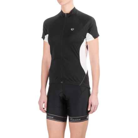 Pearl Izumi Symphony Jersey - UPF 50+, Full Zip, Short Sleeve (For Women) in Black - Closeouts
