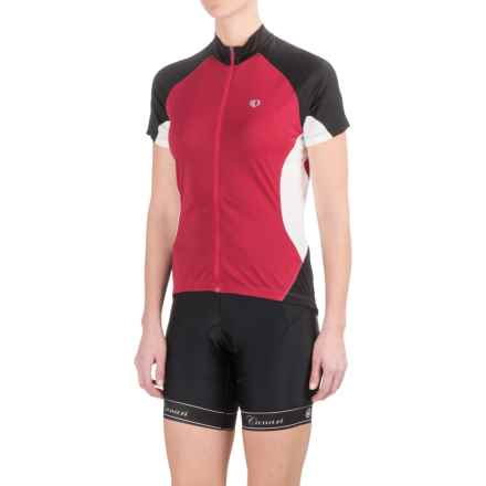 Pearl Izumi Symphony Jersey - UPF 50+, Full Zip, Short Sleeve (For Women) in Crimson - Closeouts