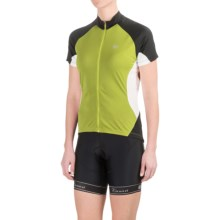 Pearl Izumi Symphony Jersey - UPF 50+, Full Zip, Short Sleeve (For Women) in Lime - Closeouts
