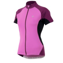 Pearl Izumi Symphony Jersey - UPF 50+, Full Zip, Short Sleeve (For Women) in Meadow Mauve - Closeouts