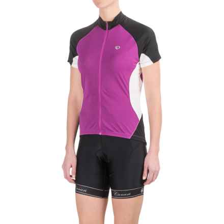 Pearl Izumi Symphony Jersey - UPF 50+, Full Zip, Short Sleeve (For Women) in Orchid - Closeouts