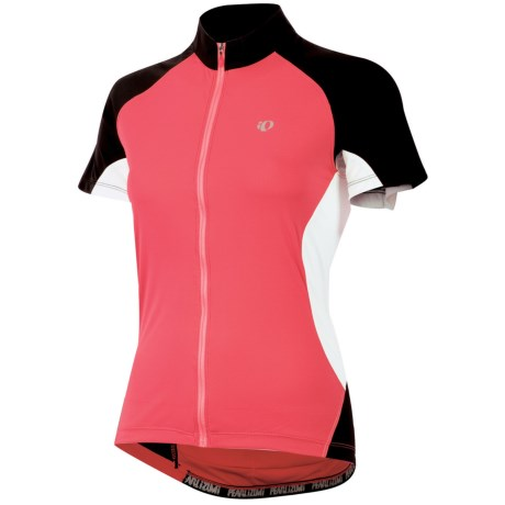 Pearl Izumi Symphony Jersey - UPF 50+, Full Zip, Short Sleeve (For Women) in Paradise Pink