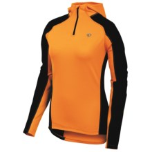Pearl Izumi Symphony Thermal Fleece Hoodie Shirt - Zip Neck (For Women) in Safety Orange - Closeouts