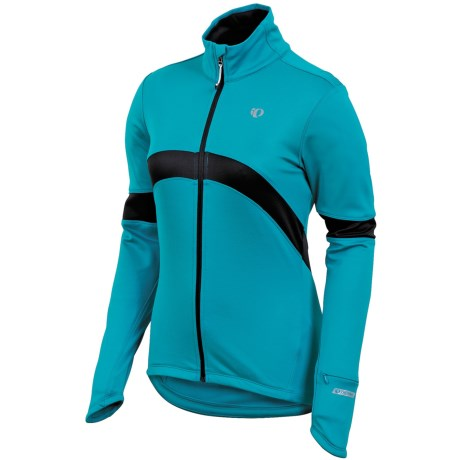 Pearl Izumi Symphony Thermal Fleece Jersey - Full Zip, Long Sleeve (For Women) in Peacock