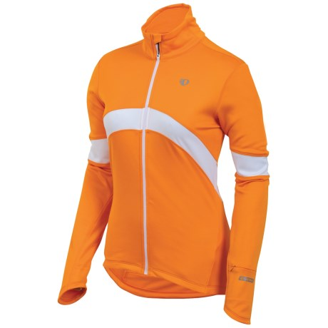 Pearl Izumi Symphony Thermal Fleece Jersey - Full Zip, Long Sleeve (For Women) in Safety Orange
