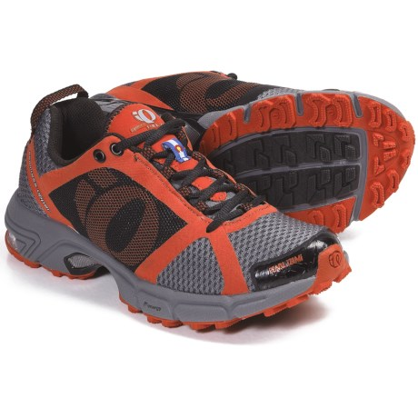 Pearl Izumi syncroFuel Trail II Trail Running Shoes (For Women) in Black/Cherry Tomato