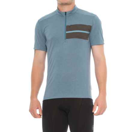 Pearl Izumi Transit Pavement Cycling Jersey - Short Sleeve (For Men) in Aegean - Closeouts