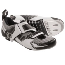 Pearl Izumi Tri Fly IV Carbon Triathlon Cycling Shoes - 3-Hole (For Men) in White/Silver - Closeouts