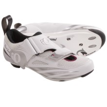 Pearl Izumi Tri Fly IV Carbon Triathlon Shoes (For Women) in White/Silver - Closeouts