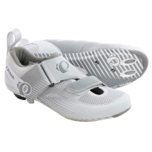 Pearl Izumi Tri Fly IV Carbon Triathlon Shoes (For Women) in White/White - Closeouts