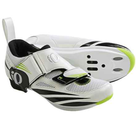 Pearl Izumi Tri Fly IV Triathlon Shoes - SPD, 3-Hole (For Women) in White/Black - Closeouts