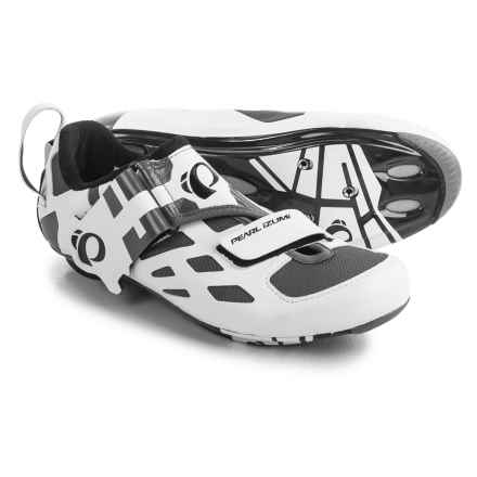 Pearl Izumi Tri Fly V Carbon Triathlon Cycling Shoes - 3-Hole (For Men) in White/Black - Closeouts
