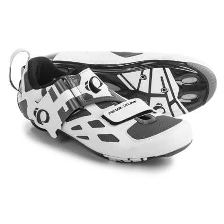 Pearl Izumi Tri Fly V Carbon Triathlon Cycling Shoes - 3-Hole (For Men) in White/Black