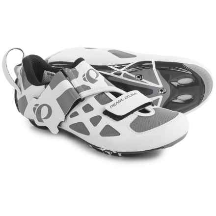Pearl Izumi Tri Fly V Carbon Triathlon Cycling Shoes - 3-Hole (For Women) in White/Black - Closeouts