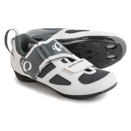 Pearl Izumi Tri Fly V Cycling Shoes - SPD/SPD-SL (For Women) in White/Black - Closeouts