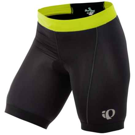 Pearl Izumi Tri Shorts (For Women) in Black/Lime - Closeouts