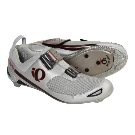 Pearl Izumi Tri Ti Triathlon Cycling Shoes - 3-Hole (For Men) in Black/Vapor