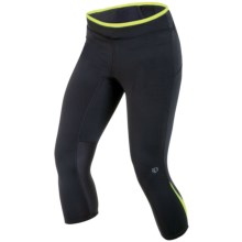 Pearl Izumi Ultra 3/4 Tights (For Women) in Black/Lime - Closeouts