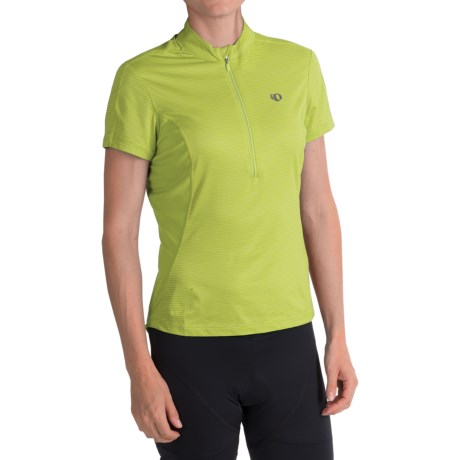 Pearl Izumi Ultrastar Cycling Jersey - UPF 50+, Zip Neck, Short Sleeve (For Women) in Lime