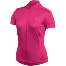 Pearl Izumi Ultrastar Jersey - Full Zip, Short Sleeve (For Women) in Pink Punch - Closeouts